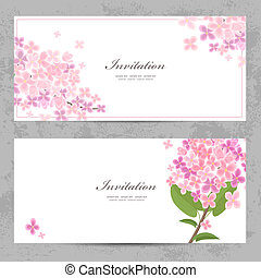 invitation cards with beautiful flowers for your design
