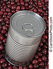 Canned food on red beans