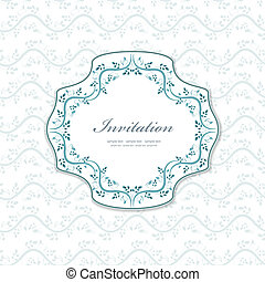 romantic a invitation for your design