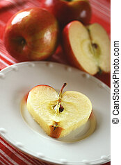 Heart Healthy - apple-shaped heart depicting health