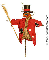 scarecrow - Scarecrow for the garden with a broom in his...