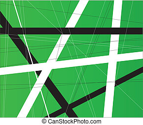 Green Criss Cross Background - A green background with black...