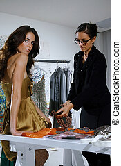 women in haute couture klk - woman in fashion atelier haute...