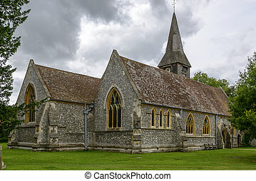 st. Mary church, Whitchurch on Thames - view of north side...