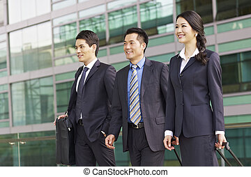 asian business team - team of asian business people with...