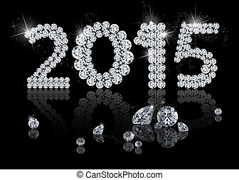 Brilliant New Year 2015 is a diamond jewelry illustration on...