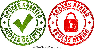 Access granted denied stamp - Access granted and denied...