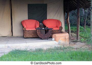 村舍, 地方, 放松, 陽台