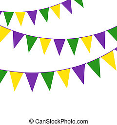 Mardi Gras party bunting