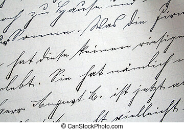 old letter - writing