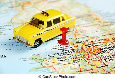 Liverpool UK map taxi - Liverpool ,United Kingdom map with...