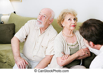 Counseling - Poor Communication - Senior couple seeing a...