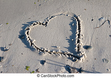 Heart shape - Baltic Sea Gr�mitz Germany