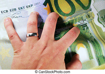 Cash Hand - Hand and Money for Financing or insurances
