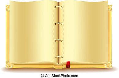 Open gold book
