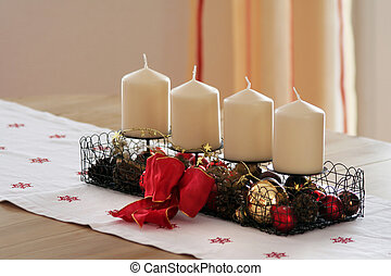 Christmas Decoration - Four candles in the Christmas time...