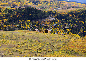 Telluride, Colorado - Autumn landscape near Telluride in...