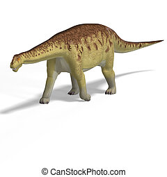 Camarasaurus - giant dinosaur camasaurus With Clipping Path...