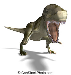 Tyrannosaurus rex - T-Rex 3D render with clipping path and...