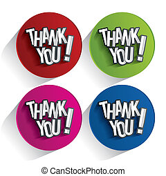 Thank You - Creative Thank You, Show Gratitude Design vector...