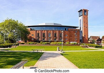 Royal Shakespeare Theatre. - Front view of the Royal...