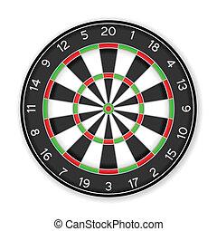 dartboard - Dartboard on a white background
