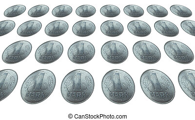 DDR coin - Range of 1 Mark coin from the DDR East Germany...