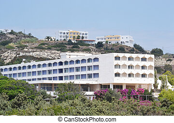 Modern part of Kefalos on a Greek island of Kos.