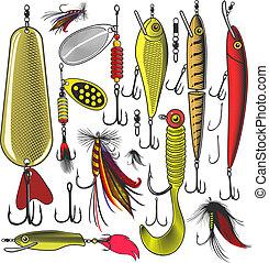mesterséges, halászat, műcsalik