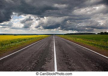 camino, Antes, thunder-storm