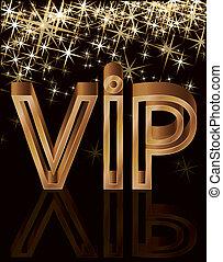 Golden VIP card, vector illustration