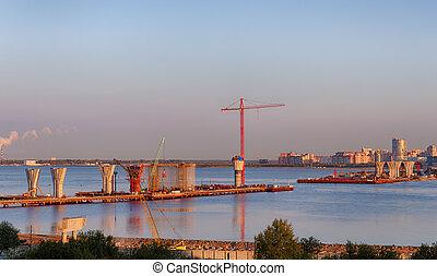 nuevo, autopista, Puente