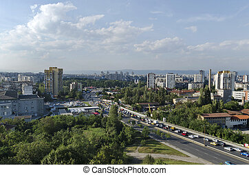 Cityscapes from Sofia, Bulgaria - A residential district of...