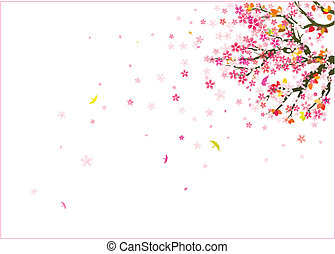 falling flowers background
