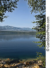 Tranquil Blue Lake - Beautiful tranquil, clear blue...