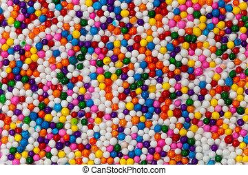 Sugar Sprinkles - Background Rainbow Colored Sprinkles