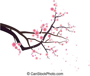 plum blossom pattern design