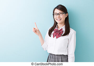school girl - Beautiful young asian school girl