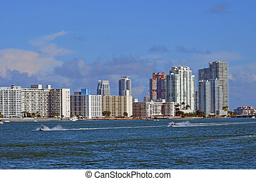 Condo Towers on Biscayne Bay - South Beach condominium...
