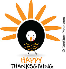 Happy Thanksgiving celebration logo - Happy Thanksgiving...