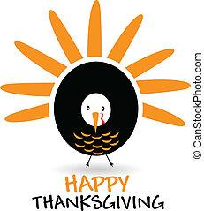 Happy Thanksgiving celebration logo