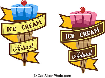 Ice cream labels