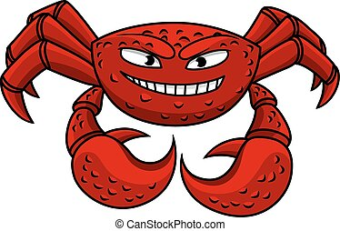 Cartoon red crab character