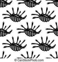Seamless pattern of sea shells - Seamless background pattern...