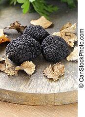 black truffle mushroom - expensive rare black truffle...