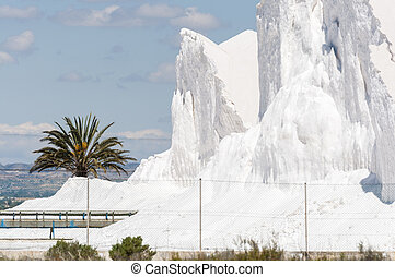 Saltworks in Santa Pola town It is a coastal town located in...