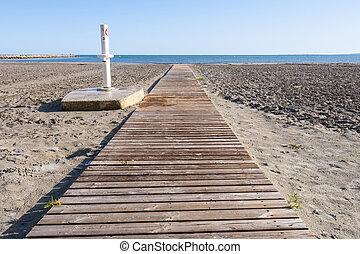 Wooden walkway Photo taken in Santa Pola town It is a...
