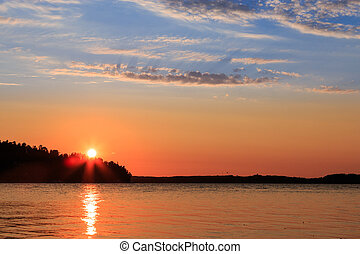 Scandinavian sunset - Sunset in the Stockholm archipelago