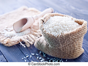 crudo, arroz