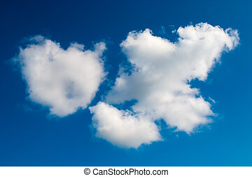 Puffy clouds - Puffy Clouds on blue sky